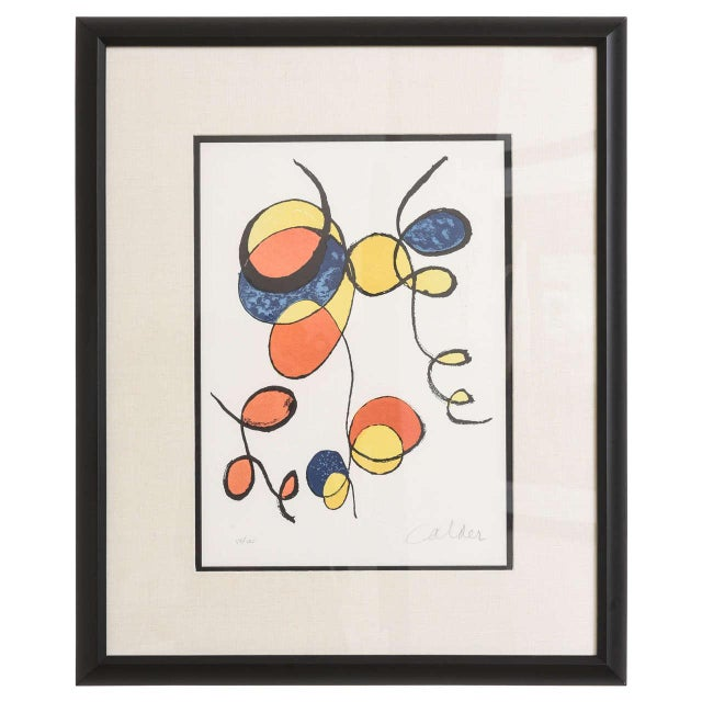 20th Century Pencil Signed Color Lithograph by Alexander Calder For Sale - Image 9 of 9