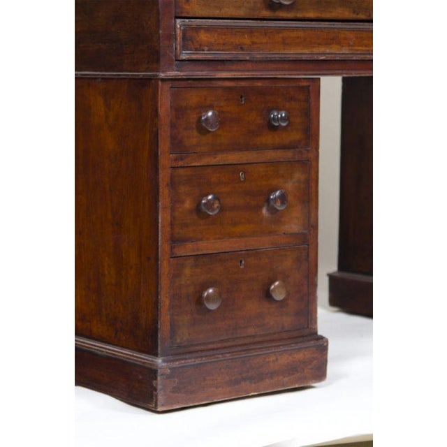 English Traditional Late 19th Century English Mahogany Roll Top Desk For Sale - Image 3 of 7