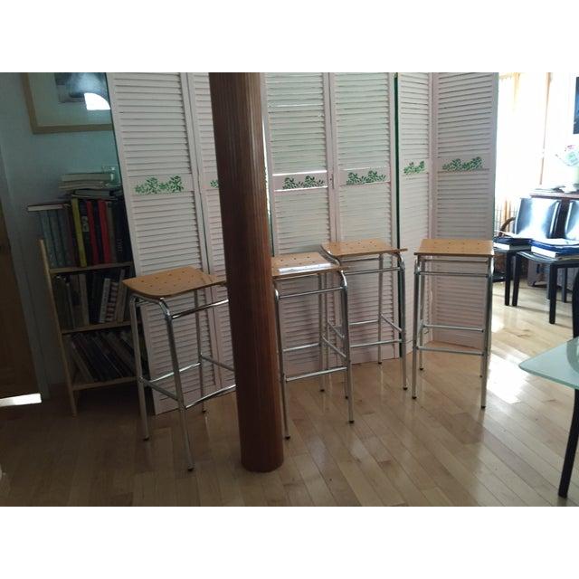 Modern Countertop Stools - Set of 4 - Image 7 of 7