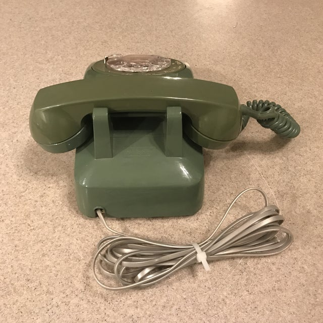 Vintage Western Electric Green 500 Rotary Phone For Sale In Charlotte - Image 6 of 11