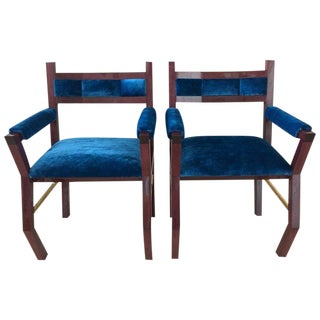 Handmade Solid Purple Heart Frame Chairs With Lacquer Finish by Troy Smith - Artist Proof - Contemporary Design - Limited Edition Design & Furniture For Sale