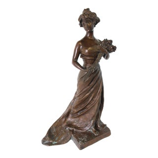 Georges Van Der Straeten Art Deco Bronze Figurine For Sale