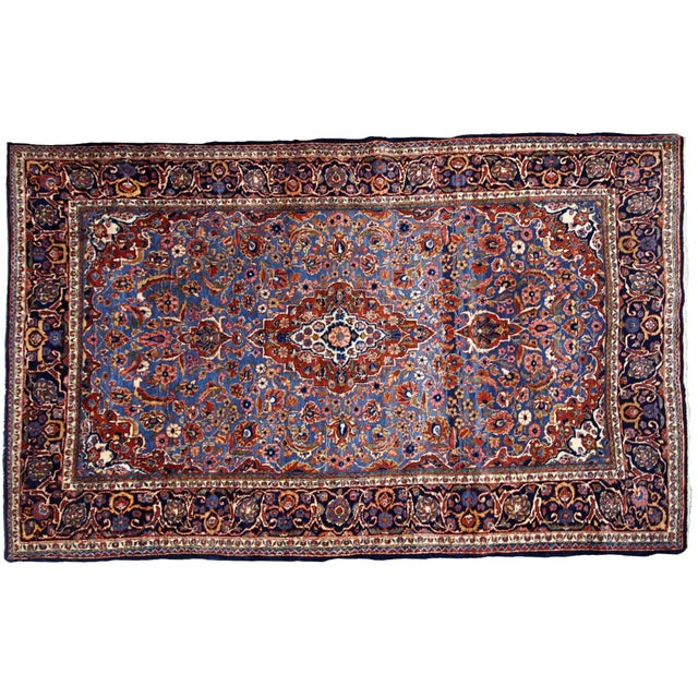 1900s, Handmade Antique Persian Kashan Rug 4.1' X 6.6' - 1b706 For Sale - Image 11 of 12