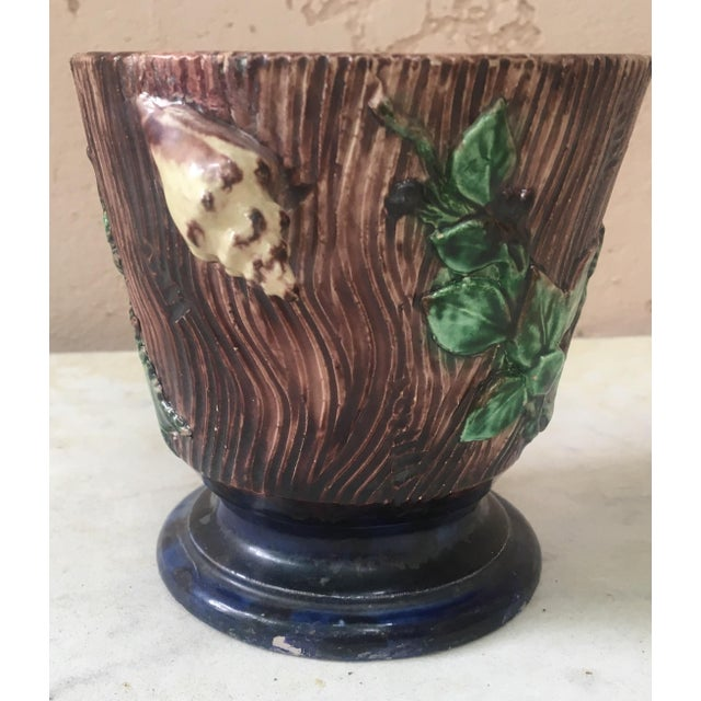 Majolica Palissy Cachepot For Sale - Image 4 of 6