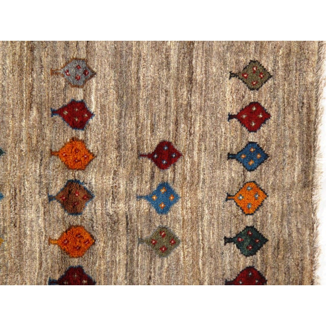 "Islamic Pasargad NY Persian Gabbeh Rug - 2′6″ × 3′9"" For Sale - Image 3 of 4"
