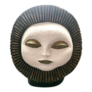 Black & Gold Sun Sculpture by Paul Bellardo For Sale