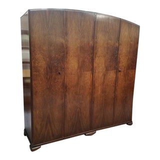 C.1930's Deco Hanging Armoire. 6 Feet Wide.