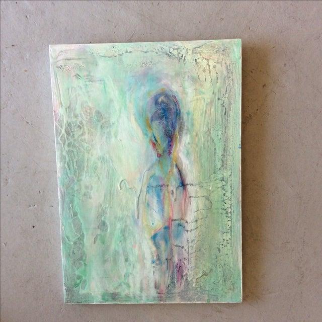 'Aqua Man' Acrylic Painting on Wood - Image 2 of 3
