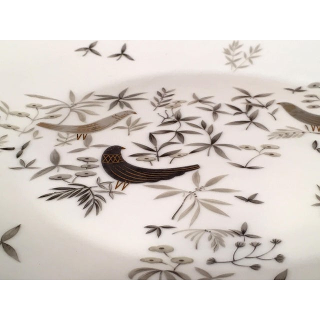 Mid-Century Modern 1960s Vintage Raymond Loewy for Rosenthal Birds on Trees Porcelain Plate For Sale - Image 3 of 7