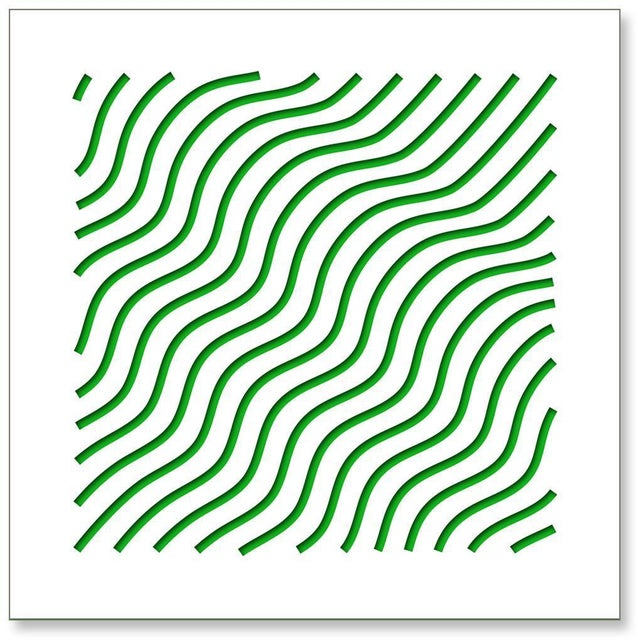 Chuck Krause Waves (Green), original three dimensional geometric design wall relief 2020 For Sale - Image 4 of 4