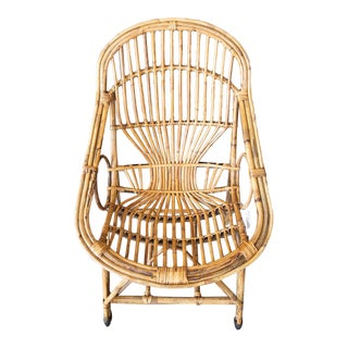 Early 21st Century Vintage Rattan Bungalow Chair For Sale