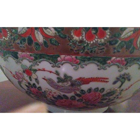 Chinese Famille Medallion Bowl For Sale - Image 5 of 7