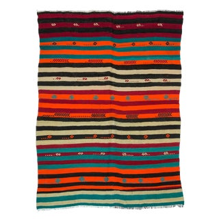 Striped Vintage Kilim Rug For Sale