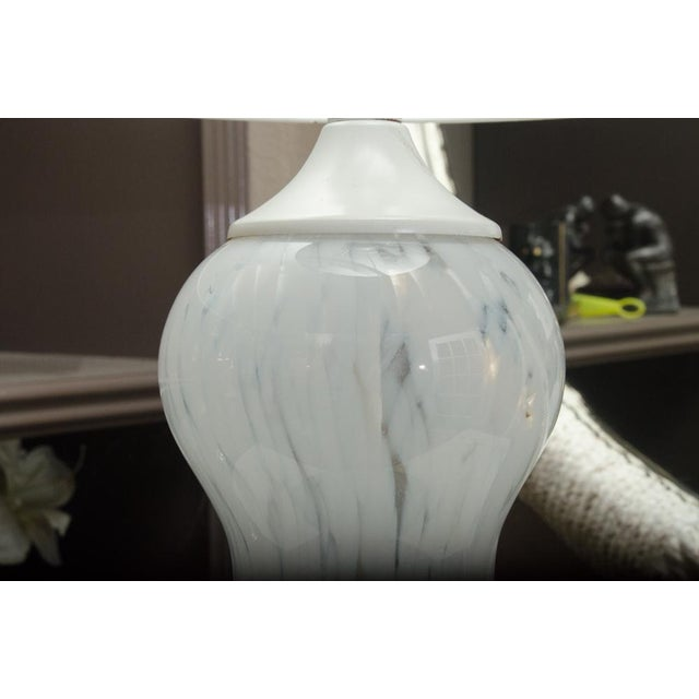 Attractive Murano Glass lamp with custom shade. The lamp was recently rewired.