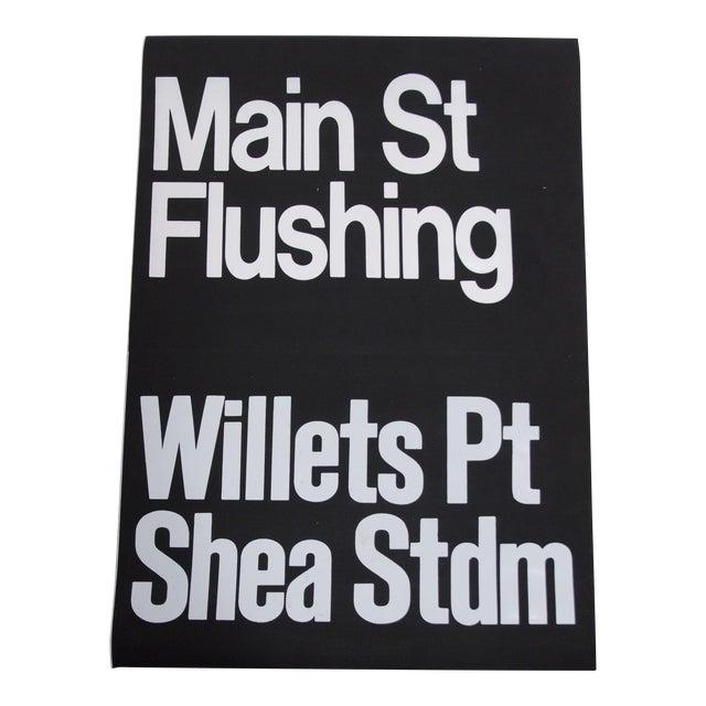 1980s Americana New York City Shea Stadium Subway Sign For Sale