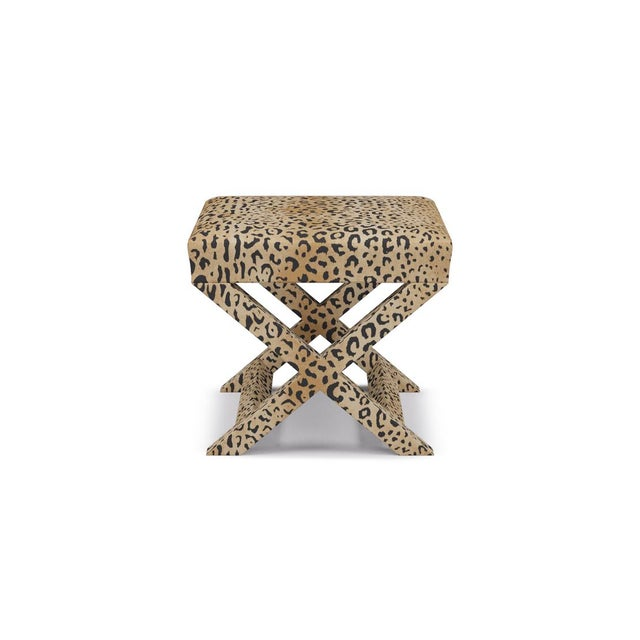 The Inside X Bench in Leopard For Sale - Image 4 of 4