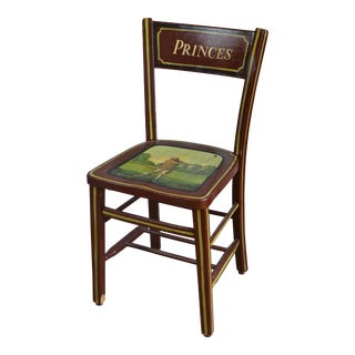 Vintage Princes Golf Theme Painted Chair For Sale