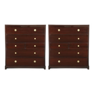 Custom Tommi Parzinger Mahogany Chests - a Pair For Sale