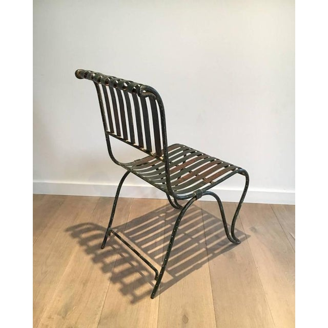 French Wrought Iron Garden Chair - Image 6 of 11