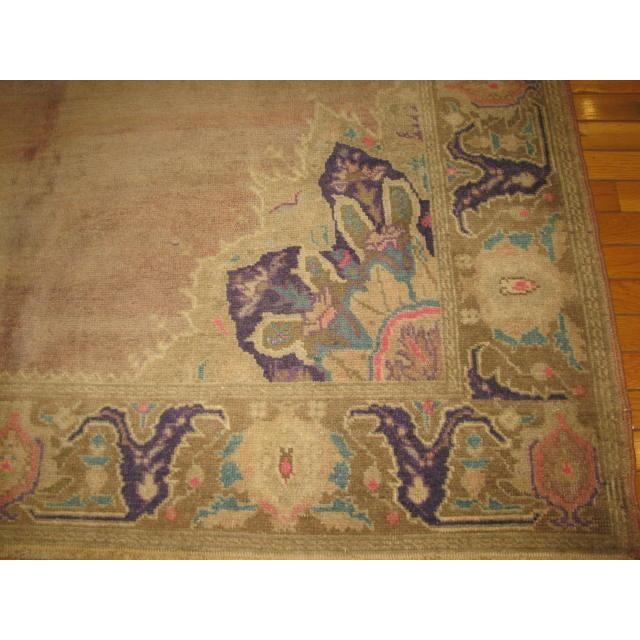 "Vintage Turkish Handmade Oriental Rug - 5'9"" x 9'7"" For Sale - Image 4 of 6"