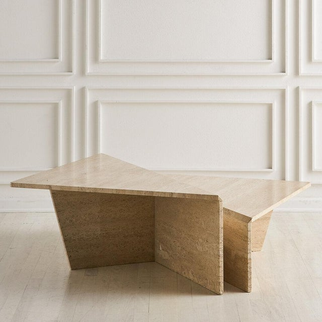 Modern Tiered Travertine Coffee Tables - a Pair For Sale - Image 3 of 12