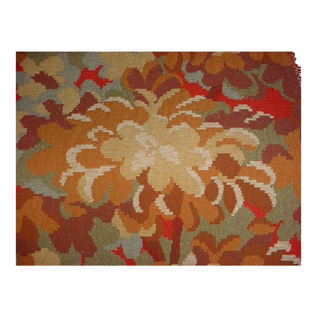 Kravet Couture Red Tree Branch Floral Tapestry Upholstery Fabric - 12-7/8 Yards For Sale
