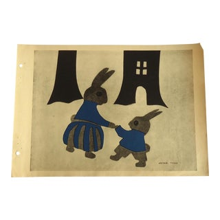 Peter Rabbit 1930 Art Deco Print
