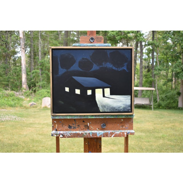 """""""Late Night Work"""" Contemporary Painting by Stephen Remick For Sale - Image 9 of 11"""