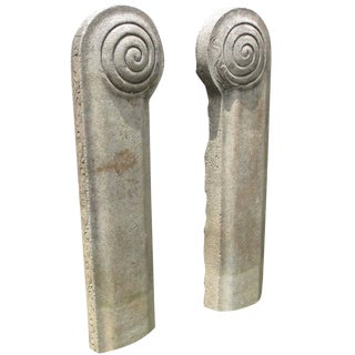 19th Century Stone Temple Adornments - a Pair For Sale
