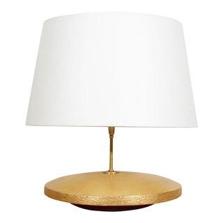 Andrea Koeppel Ceramic and 23k Gilt Gold Lamp