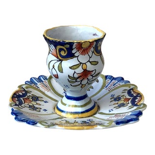 French Faience Egg Cup, Circa 1900 For Sale