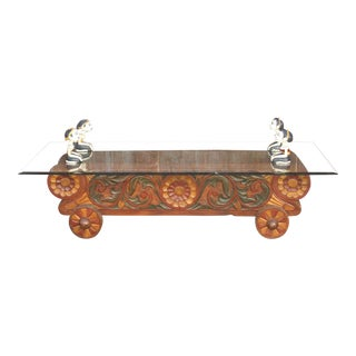 Balinese Antique Cart Diety Table For Sale