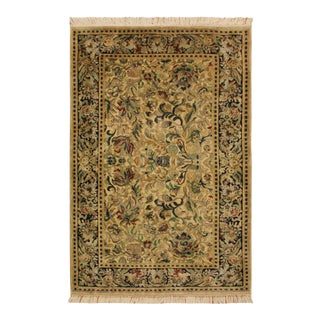 "Sukhan Pak-Persian Kyong Ivory/Blue Wool Rug - 2'7"" X 4'1"" For Sale"
