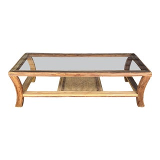 Vintage Pencil Reed Coffee Table For Sale
