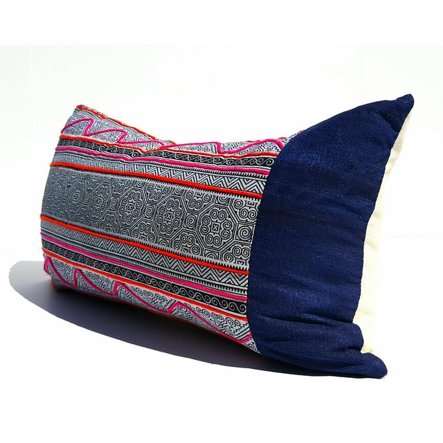 Boho Hmong Batik Lumbar Pillow Cover - Image 2 of 3