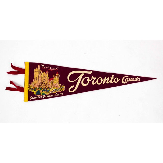 American Mid Century Toronto Pennant Flag For Sale - Image 3 of 3