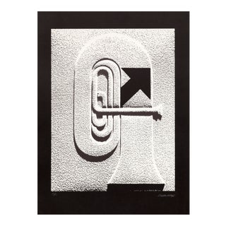 """Omar Rayo, """"Trumpet"""", Lithograph For Sale"""
