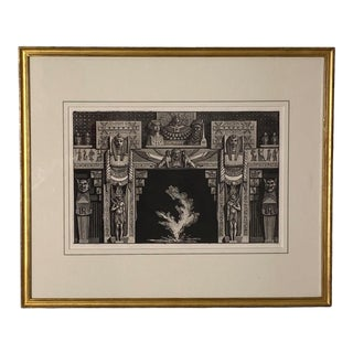 Fireplace Surround 2 Piranesi Engraving, Italy Circa 1760 For Sale