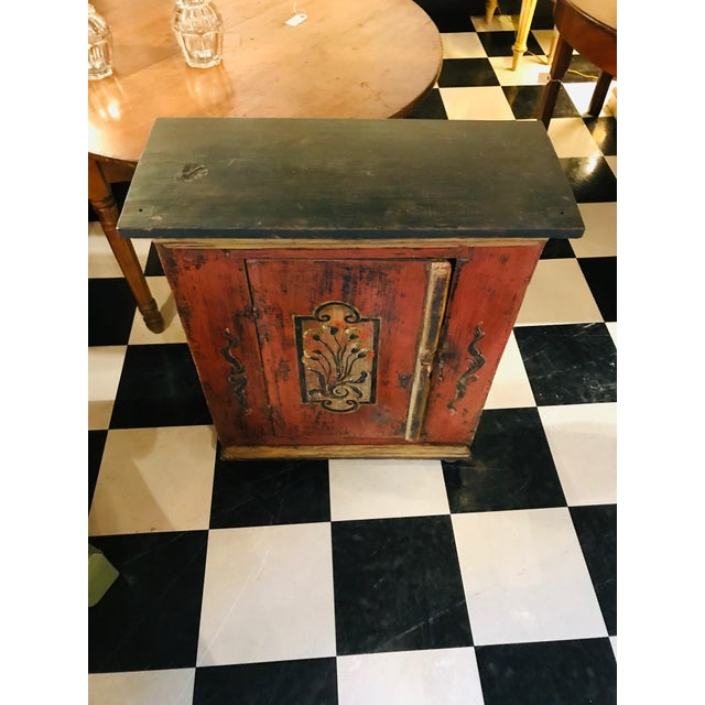 Gustavian (Swedish) 18th Century Swedish, Paint Decorated Cabinet For Sale - Image 3 of 8