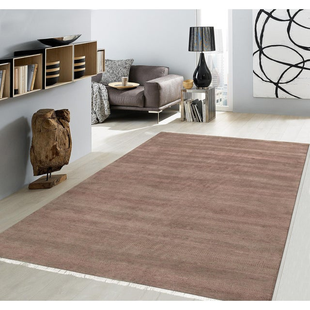 """Traditional Pasargad Transitional Silk & Wool Rug - 8'10"""" x 12' 2"""" For Sale - Image 3 of 3"""