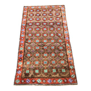 1970s Art Deco Persian Baluchi Wide Wool Runner