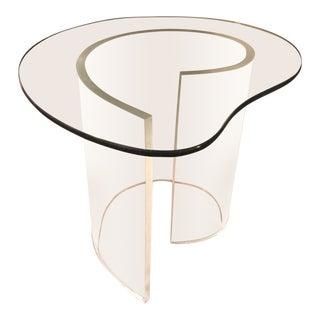 Vintage Modern Lucite Spiral Side Table For Sale