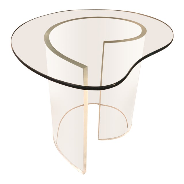 Vintage Modern Lucite Spiral Side Table For Sale