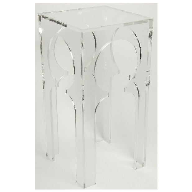 Contemporary Transparent Acrylic Side Tables -- A Pair For Sale - Image 3 of 5