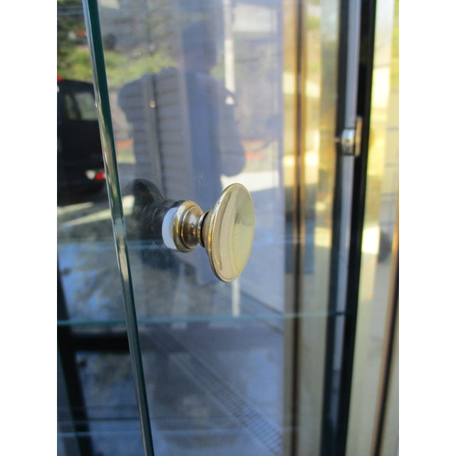 Mastercraft Mastercraft Brass and Black Lacquer Display Case or Vitrine For Sale - Image 4 of 12