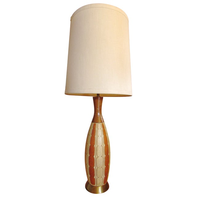 Mid-Century Ceramic Lamp - Image 1 of 8