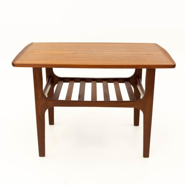Finn Juhl style mid century teak occasional side table. Made in the mid 20th century.