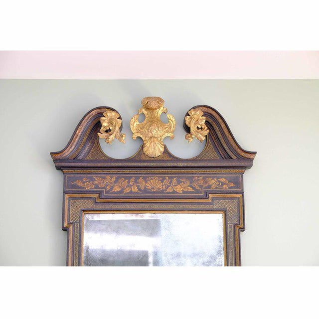 George II Japanned Mirror For Sale - Image 4 of 7
