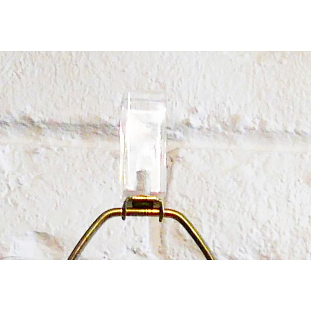 Plastic Vintage Lacquered and Lucite Lamp For Sale - Image 7 of 8
