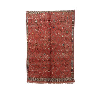"""1970s Moroccan Beni M'Rirt Rug - 6'7"""" X 9'10"""" For Sale"""
